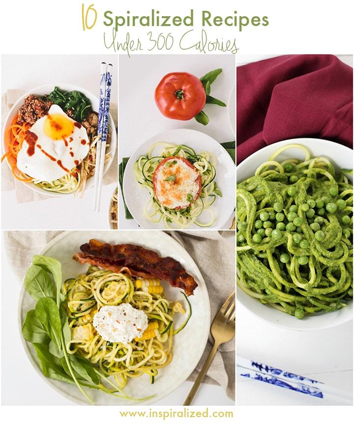 Inspiralized: 10 Spiralized Zucchini Recipes Under 300