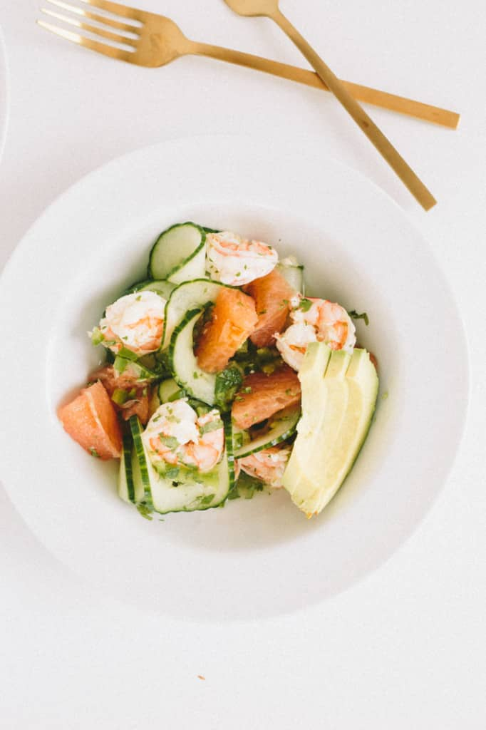 Spiralized Citrus Ceviche with Spiralized Cucumbers