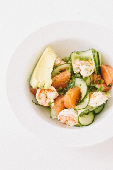 Citrus Shrimp Ceviche with Spiralized Cucumbers + a honeymoon recap