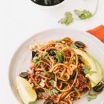 Vegan Taco Bolognese Zucchini Spaghetti