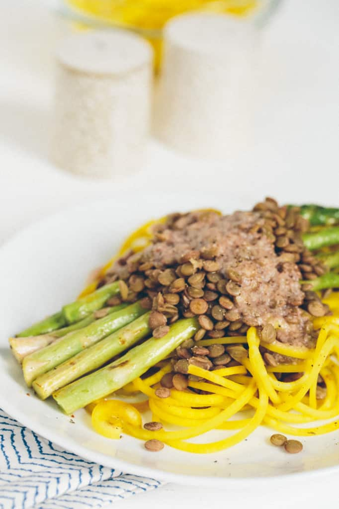 ... Asparagus, Lentils and Roasted Garlic-Parmesan Dressing | Inspiralized