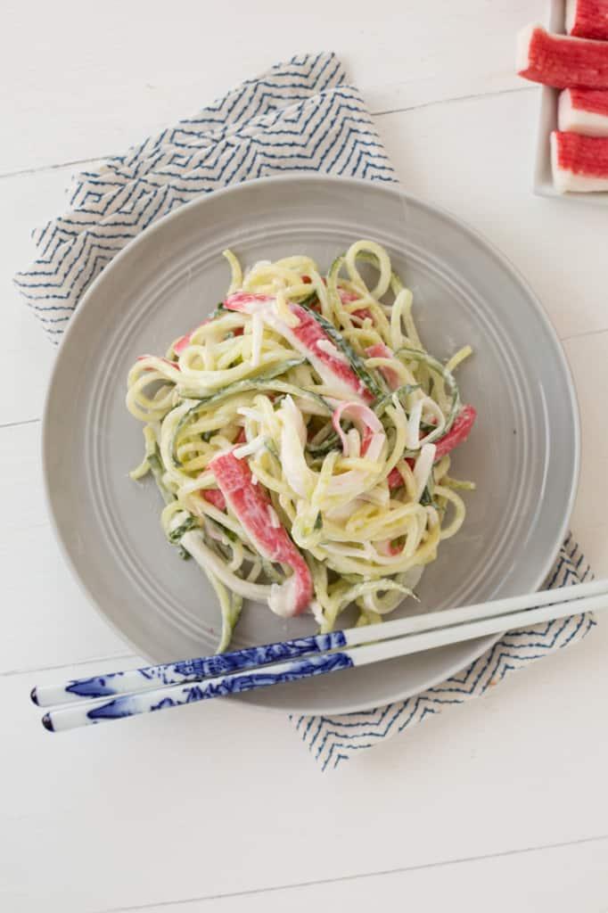 Spiralized Kani Salad