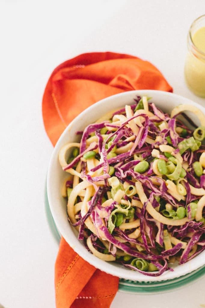 Mango-Almond Jicama and Cabbage Salad