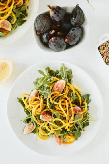 Fig and Golden Beet Arugula Salad with Sunflower Seeds