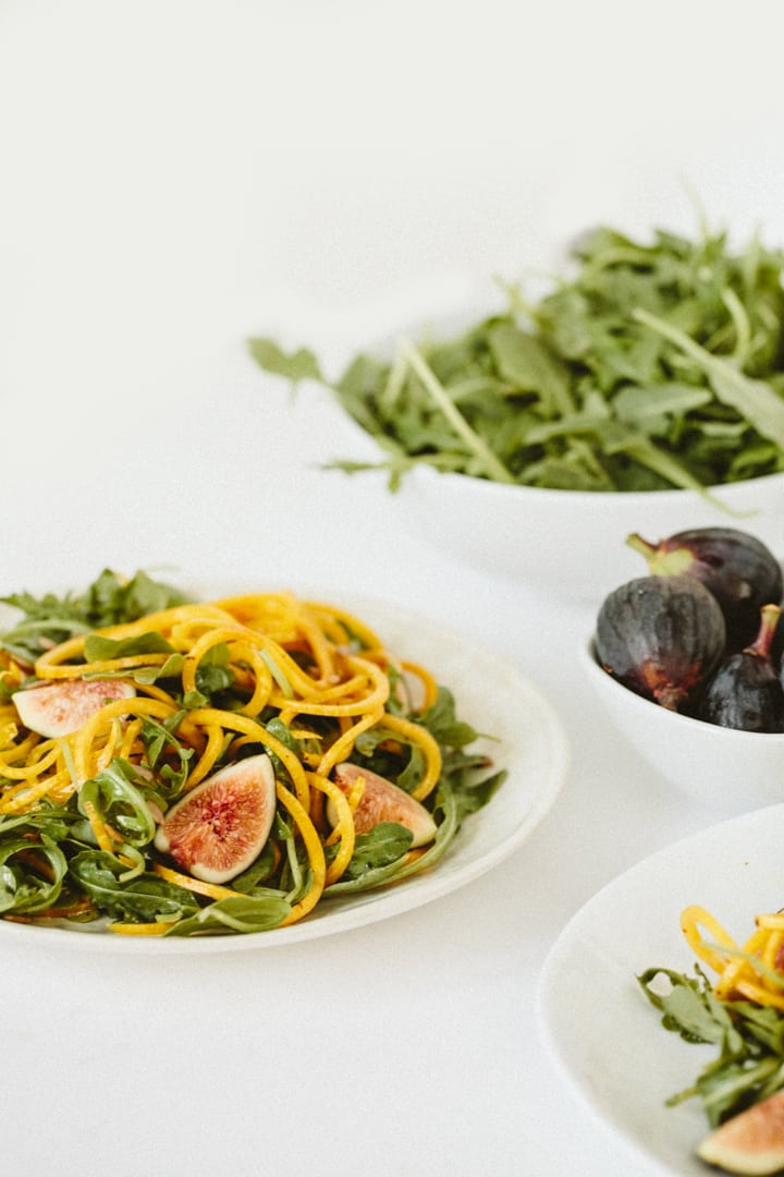 Fig and Golden Beet Arugula Salad with Sunflower Seeds