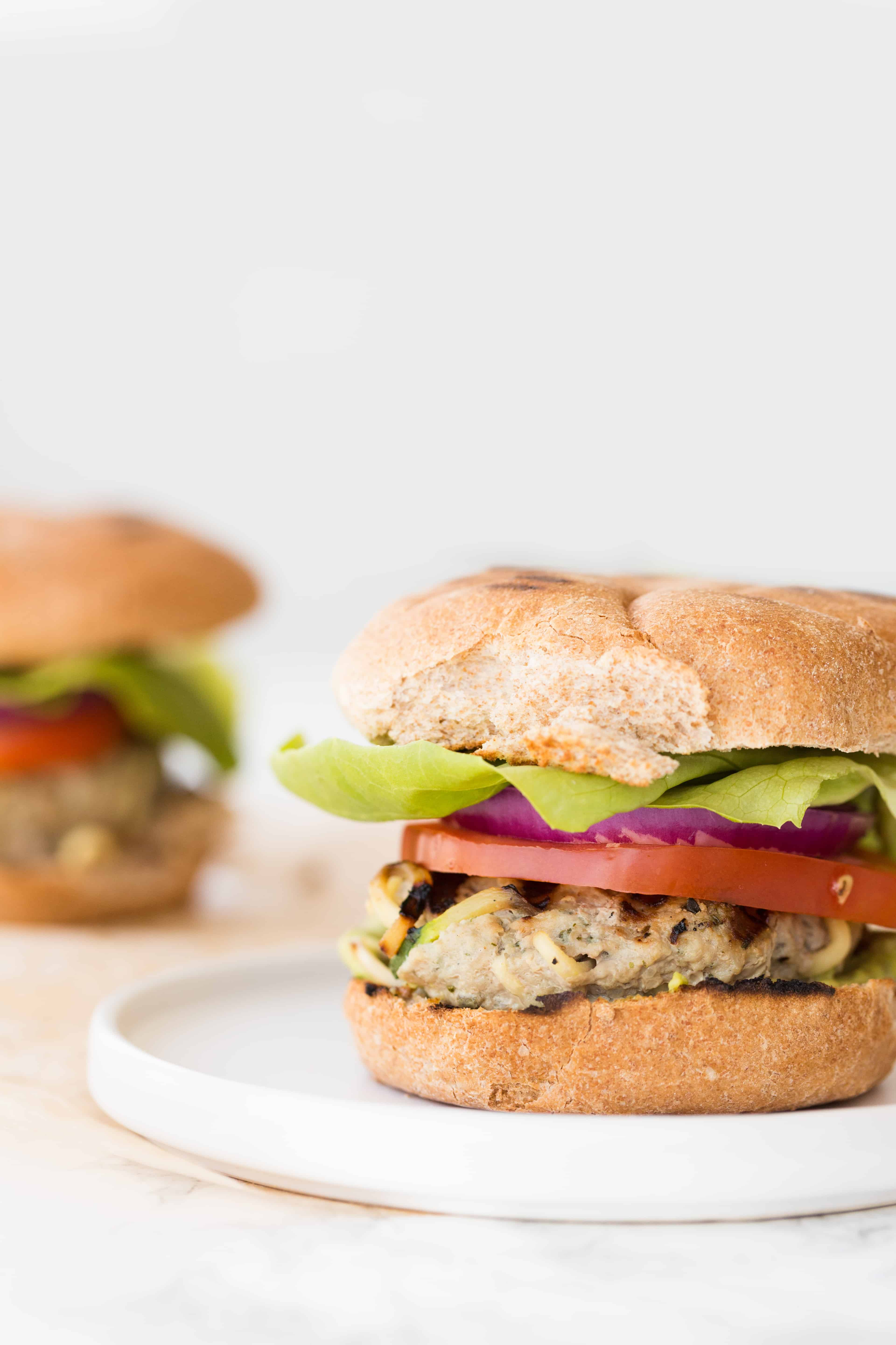 Turkey Burger with Zucchini Noodles