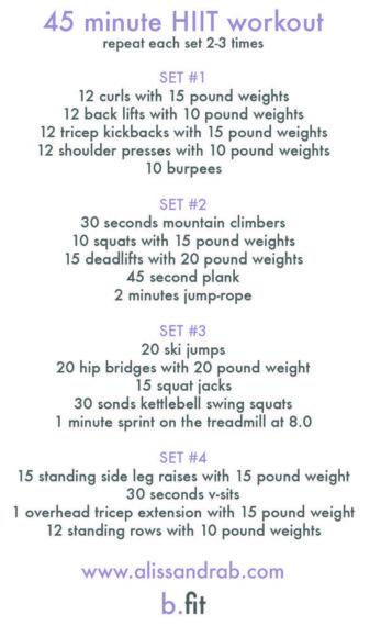 september workout schedule
