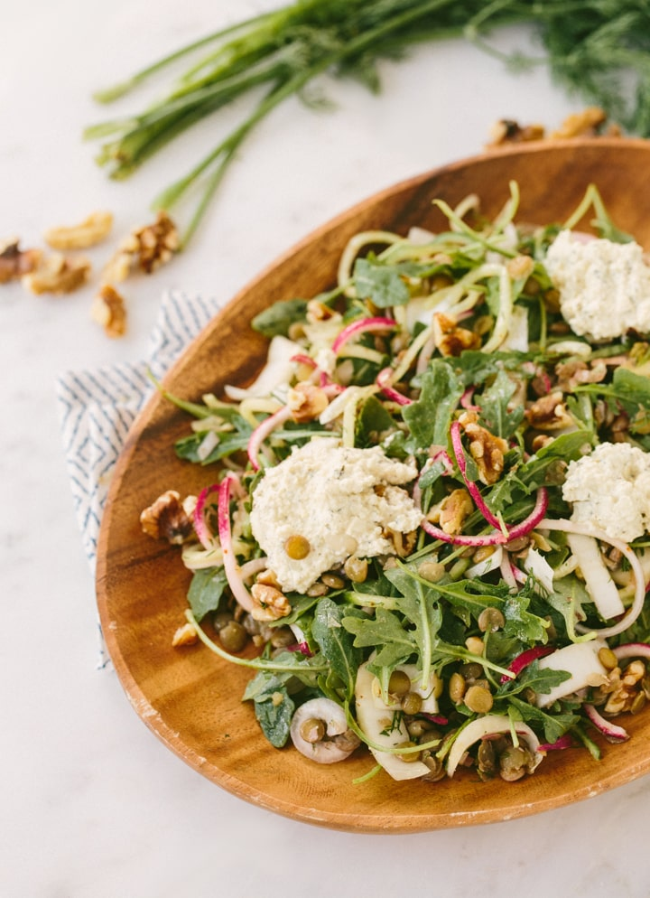 Herbed French Lentil Salad Recipe — Dishmaps