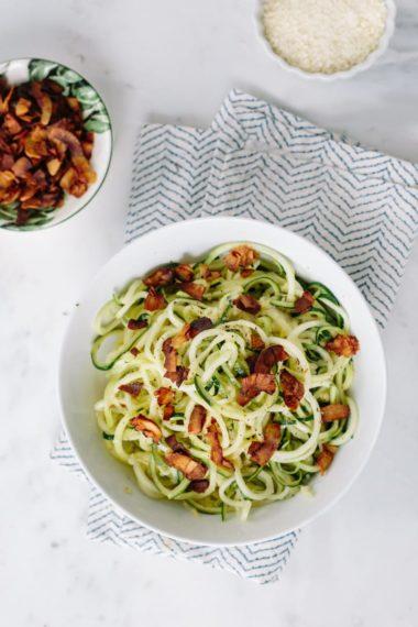 Zucchini Noodle Cacio e Pepe