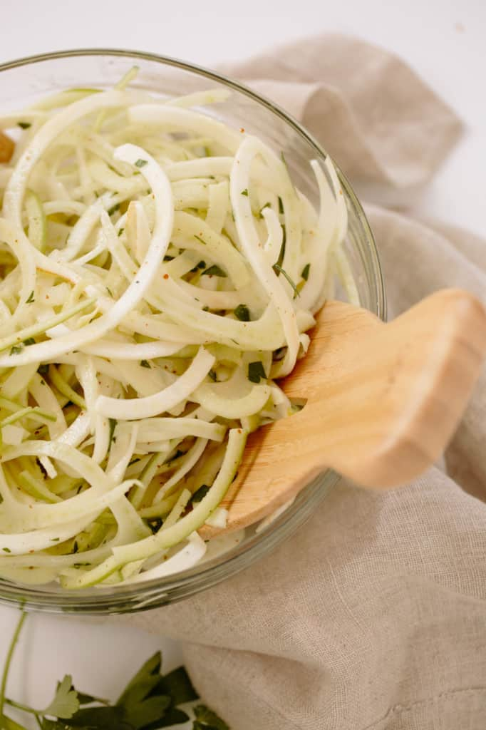 Apple, Fennel and Celeriac Slaw with Apple Cider Vinaigrette