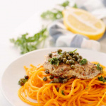 Paleo Chicken Piccata with Butternut Squash Noodles Recipe
