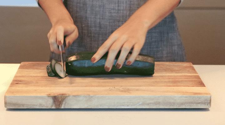 Peeling a Zucchini