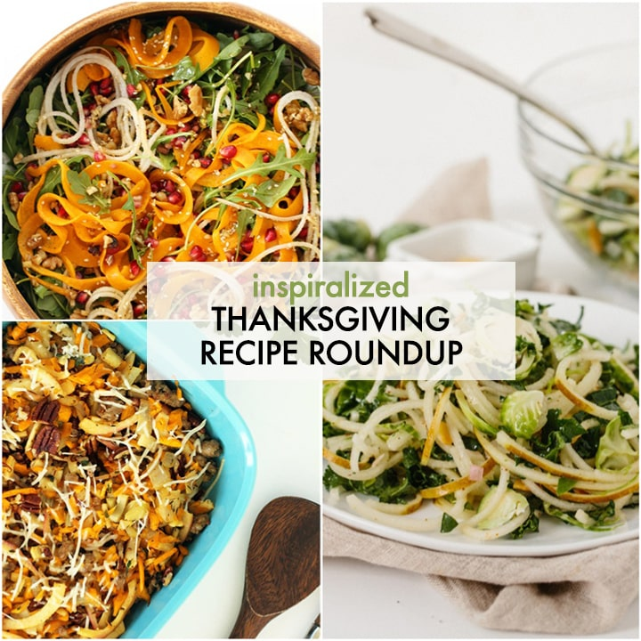 Last-Minute Spiralized Thanksgiving Recipe Roundup