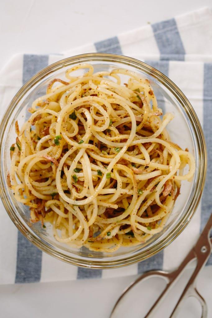 Chive Dijon Potato Noodles Recipe