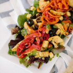 Spiralized Bell Pepper Antipasto