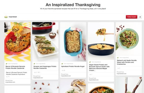 Thanksgiving Inspiralized Recipe Roundup