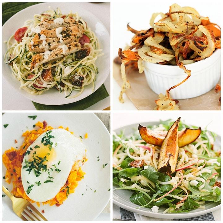 under 300 calories spiralized recipe roundup