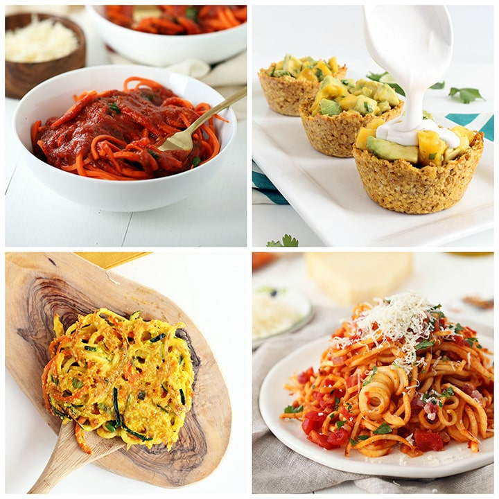 under 300 calorie spiralized recipe roundup