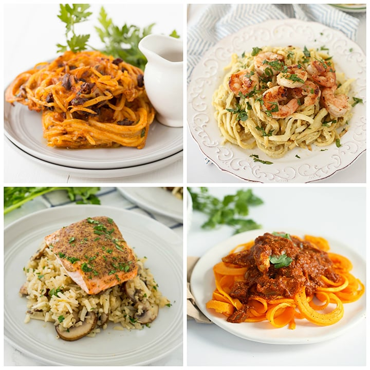 under 300 calories spiralized recipe roundup