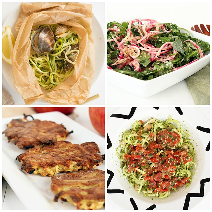 300 calorie spiralized recipe roundup