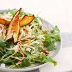 Spiralized Apple and Arugula Salad with Roasted Honey Glazed Acorn Squash