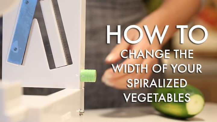 Video: How to Change the Width of Your Spiralized Noodles (with the Inspiralizer!)
