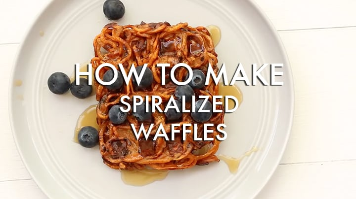 How to make spiralized waffles