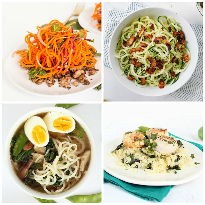 low carb spiralized recipe roundup