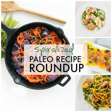 Spiralized Paleo Recipe Roundup