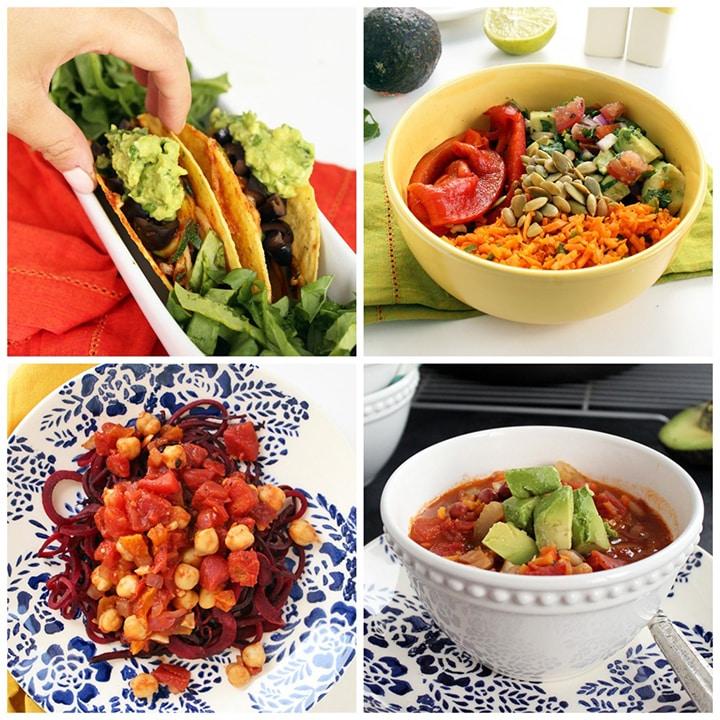 spiralized vegan and vegetarian recipe roundup