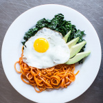 Kale, Avocado, and Sweet Potato Noodle Breakfast Bowl