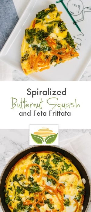 Mini Spiralized Butternut Squash and Feta Frittata Recipe