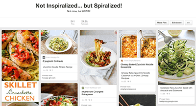 Inspiralized on Pinterest