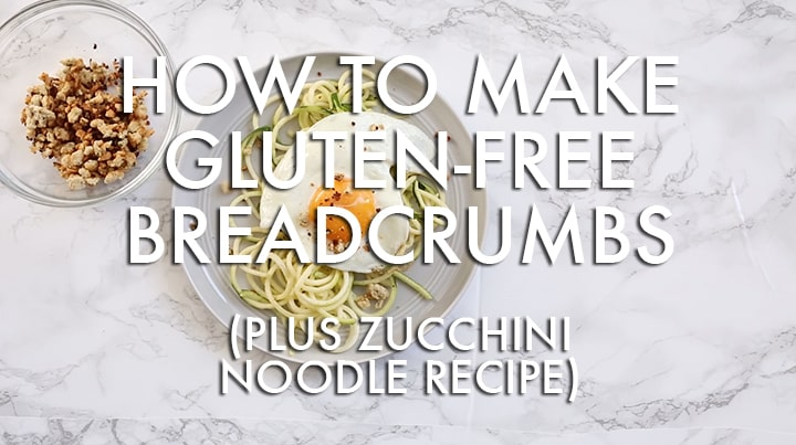 How to Make Gluten-Free Italian Breadcrumbs with Almond Meal - Zucchini Noodle Recipe