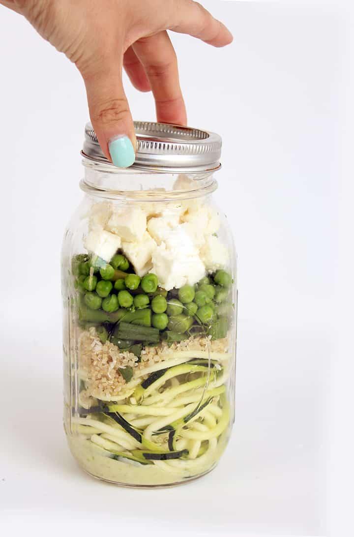 Mason Jar Zucchini Noodle Salad