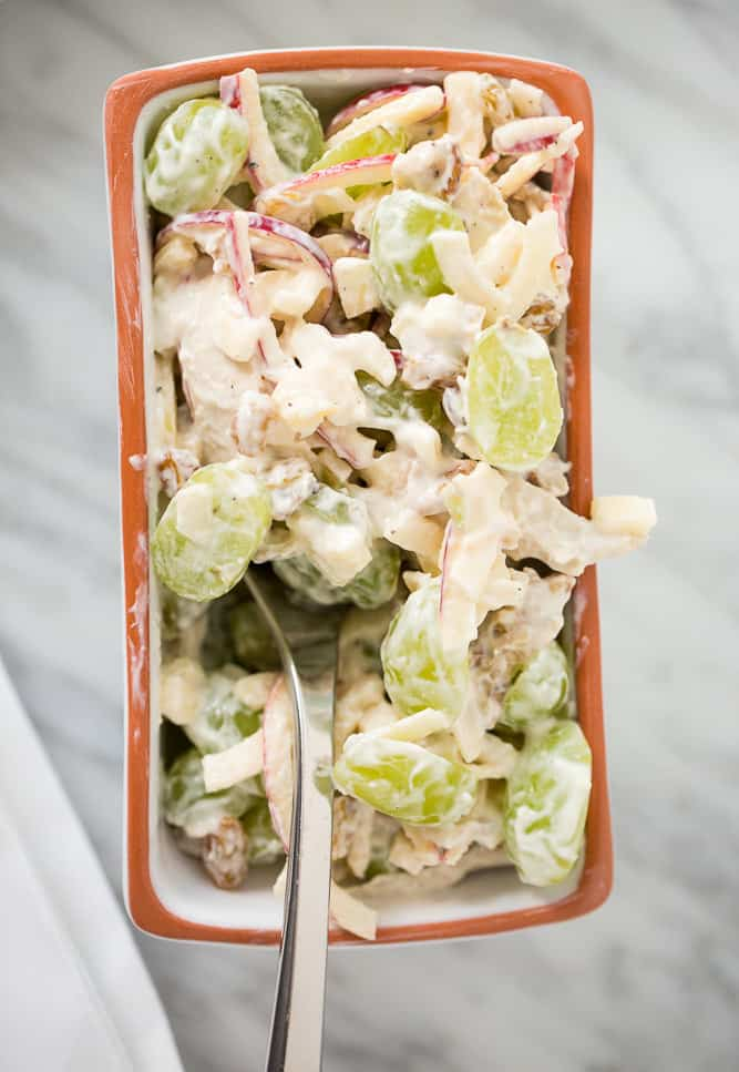 Chicken Waldorf Salad Cups with Spiralized Apples