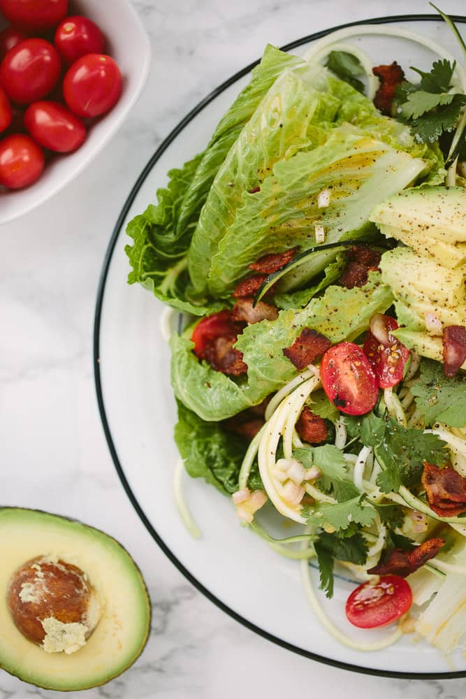 BLAT Salad with Zucchini Noodles