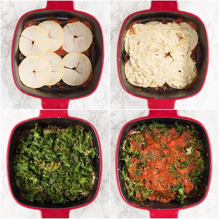 Vegan Kale and Rutabaga Lasagna