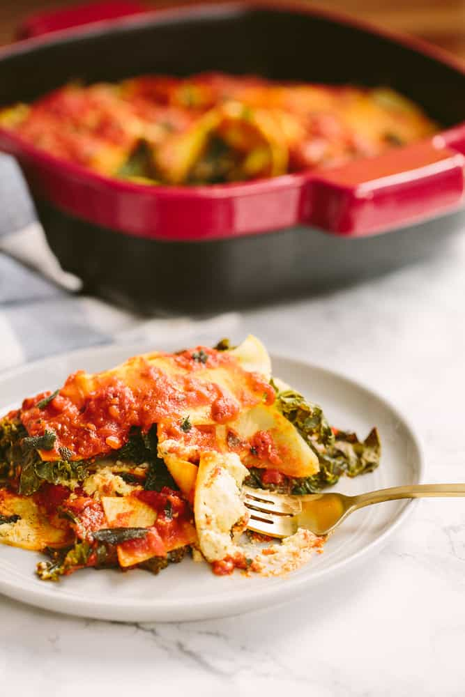 Vegan Kale and Rutabaga Lasagna