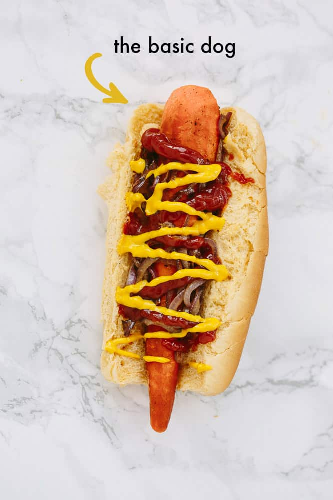 Vegan Carrot Dogs with Spiralized Toppings (Three Ways!)