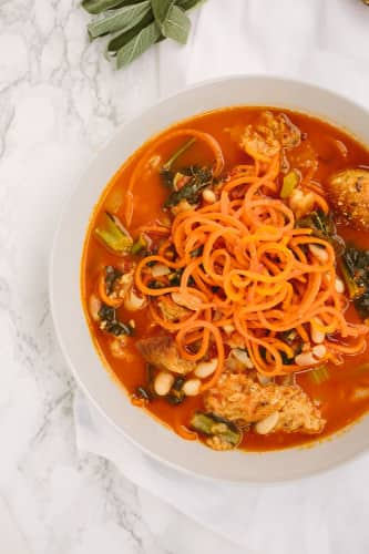 Ribollita with Spiralized Carrots