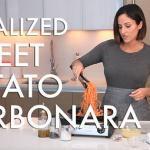 #EverydayInspiralized: Spiralized Sweet Potato Carbonara