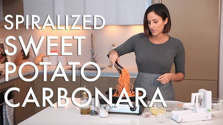 #EverydayInspiralized: Spiralized Sweet Potato Carbonara