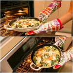 Spiralized Sweet Potato, Kale and Goat Cheese Frittata Recipe with Lemon-Arugula Salad