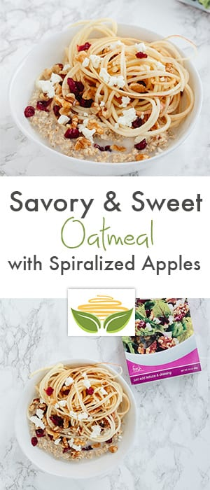savory & sweet oatmeal with spiralized apples