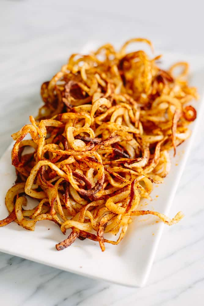 Crispy Baked Spiralized Fries