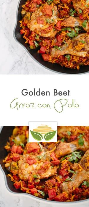 Spiralized Golden Beet Arroz con Pollo