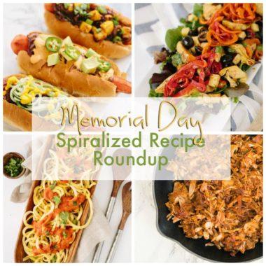Last Minute Memorial Day Spiralized Recipe Roundup