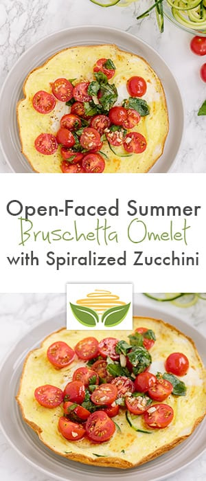 Open-Faced Summer Bruschetta Omelet with Spiralized Zucchini