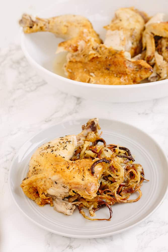 Roast Chicken with Spiralized Potatoes